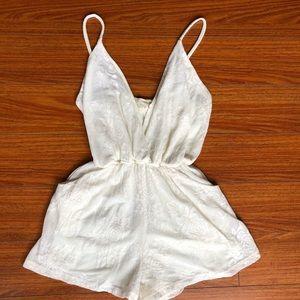 Audrey sz S white lace romper